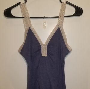 Lace Trimmed Tank Top
